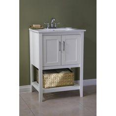 """Found it at Joss & Main - Olivia 24"""" Single Bathroom Vanity Set with Basket ($289.99 on sale)"""