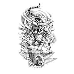 Asian Tiger Tattoo Idea