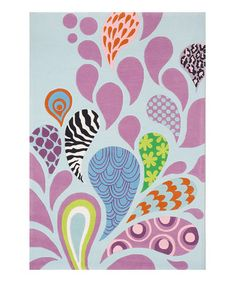 Take a look at this Mod Paisley Rug by Lil Mo by Momeni Rugs on #zulily today!   like the colors