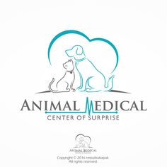 Animal Medical Center of Surprise - New animal hospital Practicing small animal veterinary medicine exclusively consisting of dogs and cats. Targeting audience is caring p. Clinic Logo, Green Animals, Green Logo, Veterinary Medicine, Personal Logo, Business Card Mock Up, Logo Concept, Animal Logo, Creative Logo