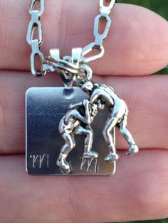 Wrestling mom necklace $12 To order please email me at kissingfrogsboutique@hotmail.com Can be customized for other sports