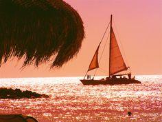 sunset beach aruba, shot through my sunglasses