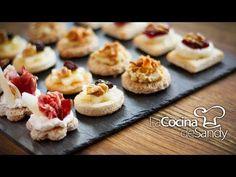 Canapés o tapas aperitivo en recetas de comida faciles - YouTube