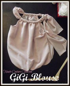 GiGi Blouse Bubble top with side bow  Pagent Wear by LuLuetGiGi, $95.00