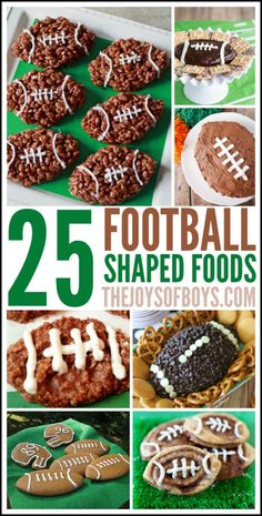 Football season is upon us and these 25 shaped Football Foods are perfect for watching the big game or for your next tailgating party!