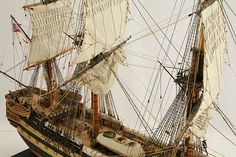 Close-up photos of ship model HMS Wellesley. HMS Wellesley was launched at Bombay in 1815 as a 74 gun ship. Old Sailing Ships, Close Up Photos, Hms Victory, Model Ships, Ship Of The Line, Wood Boats, History, Pirate Ships, Plastic