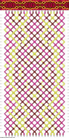 Muster # 43526, Streicher: 20 Zeilen: 40 Farben: 3