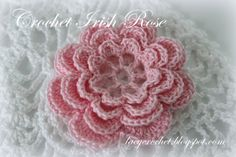 #Crochet Irish Rose free pattern from @Lacy Crochet