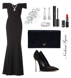 """""""Untitled #20"""" by nochnaifyria on Polyvore featuring The Pretty Dress Company, Casadei, Prada, Jon Richard and Chanel"""
