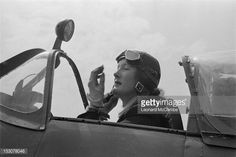 A ferry pilot of the ATA in the cockpit of a Supermarine Spitfire fighter, September ATA pilots deliver newly manufactured aircraft from the factory to military airfields. Amy Johnson, 1940s Woman, Flying Ace, Female Pilot, Supermarine Spitfire, Aircraft Photos, Battle Of Britain, Royal Air Force, Fighter Aircraft