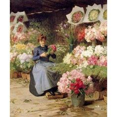 Flower Seller Behind The Madelaine Church Canvas Art - Victor Gilbert (24 x 24)