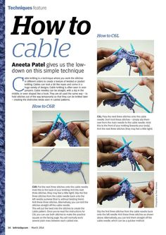 Knit Today Issue 96 2014 - 轻描淡写 - 轻描淡写 Cable Needle, Cable Knitting, Knitting Stitches, Huge Design, Rope Twist, Knitting Magazine, Knit Crochet, Archive, Internet