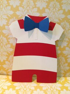 25 Boys Nautical Onesie Striped with Bow by PaperDivaInvitations, $95.00