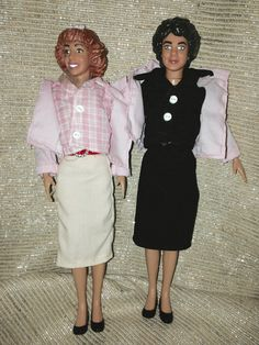 "Vintage GREASE Movie Poseable Frenchy and Rizzo Doll  9"" Limited Edition Collectible RARE Dolls"