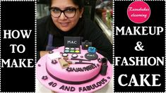 How to make beautiful makeup and Cosmetics cake design:birthday cake decorating for girls Happy Birthday Sister Cake, 18th Birthday Cake For Girls, 21st Birthday Cakes, Wife Birthday, Teen Birthday, 1st Birthday Cake Designs, Makeup Birthday Cakes, Cake Decorating Classes, Birthday Cake Decorating