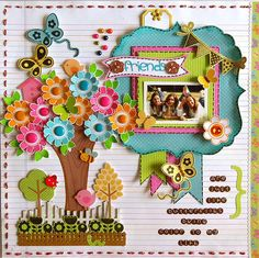 #papercraft #scrapbook #layout. Friends