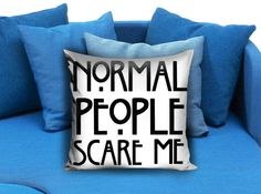 American horror story quote Pillow Case Pillow Cover Printed 18x18 16x24 20x30 Modern Pillow Case Decorative Throw Pillow Case One Side Printing   These soft pillowcase made of 50% cotton, 50% polyester.  It would be perfect to decorate your home by using our super soft pillow cases on sofa, chair, bench or bed.  Customizable pillow case is both comfortable and durable, improving the quality of your sleep with these comfortable pillow case, take it home now!  Custom Zippered Pillow Cases…