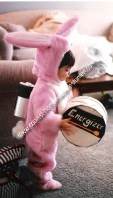Energizer Bunny Toddler Costume: I got the idea of this Energizer Bunny Toddler Costume from my 2 year old son because he keeps going, and going, and going. I started with a generic fabric