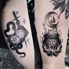 Harry Potter Half Sleeve Tattoo Ideas – Harry Potter Half Sleeve With Hogwarts S… Tattoo ideas – Fashion Tattoos Heidnisches Tattoo, Burg Tattoo, Wicca Tattoo, Witchcraft Tattoos, Body Art Tattoos, Tattoos Pics, Tattoos Gallery, Tatoos, Tattoo Modern