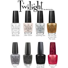 An O.P.I. nail polish line inspired by themes and characters from the Twilight film franchise. #film #nails #wearwhatyouwatch