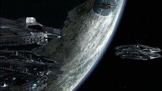 Baseships Surround Tauron (BSG) [640x360] : StarshipPorn