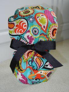 7cf07f27ab6 Turn Up Ponytail Scrub Hat in Cosmic Paisley