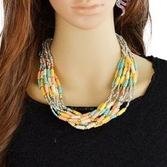 Bohemian Style Layered Beads Necklace For Women