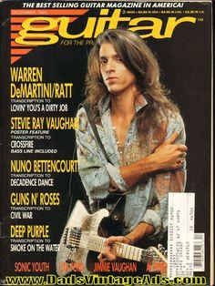1990 December Guitar For The Practicing Musician Magazine Back-Issue WARREN DEMARTINI of RATT charvel guitar guitars god hero