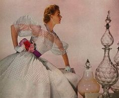 Harpers Bazaar April 1952   Spring fashion by Louise Dahl Wolfe