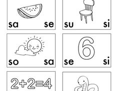 free - GRATIS - Spanish: Las sílabas con sa, se, si, so, su