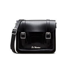 "11"" Leather satchel BLACK AB005013"
