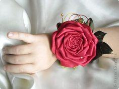 Мастер-класс День рождения Новый год Свадьба Цумами Канзаши Роза-канзаши МК Бусинки Клей Ленты Нитки фото 1