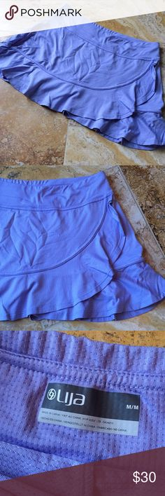 LIJA tennis skort lavender/periwinkle Stretchy mini athletic skort LIJA Shorts Skorts