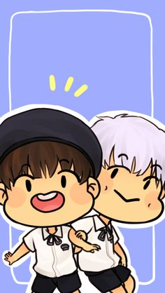 Anonymous said: Hi! I just found your blog and I am in love!! ❤️❤️❤️. Your art is so cute and squishy and just pure perfection! So I can't draw for shit but I love namjoonie and Tae, would it be possible to get a wallpaper for the iPhone 6 with...