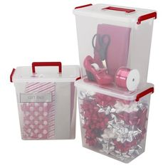 IRIS 3Piece Holiday Ribbon and Bow Storage Set Small -- More info could be found at the image url.