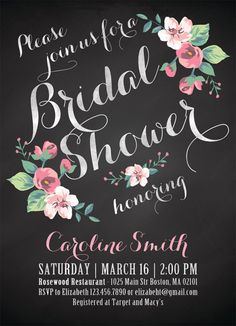 Printable Bridal Shower Invitation Vintage Floral by plpapers, $15.00