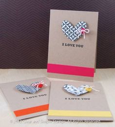 Graphic Hearts by Clear and Simple - Cards and Paper Crafts at Splitcoaststampers-They used a stamp on the heart, but I think I'd use my heart punch with scrapbook paper.