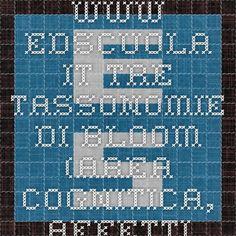 www.edscuola.it tre tassonomie di bloom (area cognitica, affettiva, psico motoria) in italiano e articolate nei loro livelli principali e sottolivelli Blooms Taxonomy, Tech Companies, Company Logo, Logos, Logo