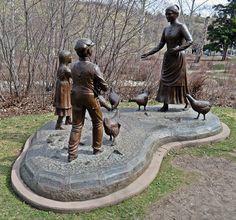 Sculpture at Fish Creek Provincial Park, Calgary, Alberta, Canada
