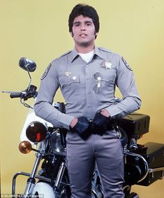 Speed demon: Estrada, 67, played a member of the California Highway Patrol on the show CHiPs, which premiered in 1977 (above)