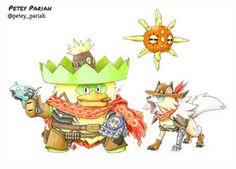 Pokemon X Overwatch: Ludicolo/Lycanroc X McCree by PeteyPariah on DeviantArt Pokemon Fan Art, Cool Pokemon, Pokemon Stuff, Play Pokemon, Pokemon Cards, Overwatch Pokemon, Purple Orb, Pokemon Crossover, Bleach Fanart