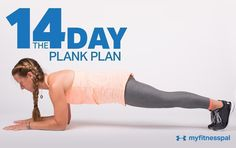Workout Challenge The Plank Plan - You already know the plank is a great core exercise. So we're adding variations to amp up your training, target your midsection from different . Fitness Workouts, My Fitness Pal, Easy Workouts, Fitness Tips, Health Fitness, Health Exercise, Fitness Plan, Fitness Shirts, Workout Routines