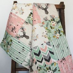 New fabrics for the girls!  I love the way this quilt looks. Soft, feminine colors and prints. Sweet and beautiful.