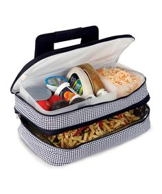 Love this Black & White Entertainer Food Carrier by Picnic Plus on #zulily! #zulilyfinds