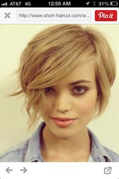 Love this short cut.  Short bob...long pixie.  Maybe I'll get bored and just go for it!