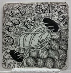Ein Zentangle aus den Mustern Olb, Quib, Vermal,  gezeichnet von Ela Rieger