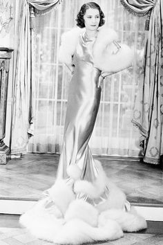 Barbara Stanwyck as 'Lady Lee' - 1934 - Gambling Lady - Gown by Orry-Kelly - Directed by Archie Mayo - @~ Mlle