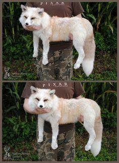 "Red Platinum Fox Taxidermy Soft Sculpture Mount Plush Art Doll - ""Atticus"" Fox by NorthernHarvest on Etsy https://www.etsy.com/listing/158882369/red-platinum-fox-taxidermy-soft"