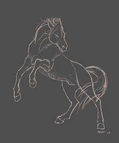 rearing horse drawing Rearing Horse Sketch by La Horse Drawings, Art Drawings Sketches, Animal Drawings, Tattoo Sketches, Horse Rearing, Horse Sketch, Animal Sketches, Sketches Of Horses, Art Inspiration Drawing