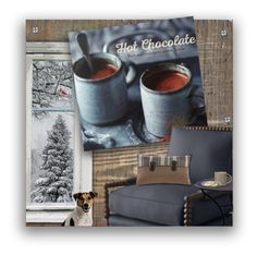 """""""Hot Chocolate"""" by nancysdrew ❤ liked on Polyvore featuring interior, interiors, interior design, home, home decor, interior decorating, Woolrich and ferm LIVING"""